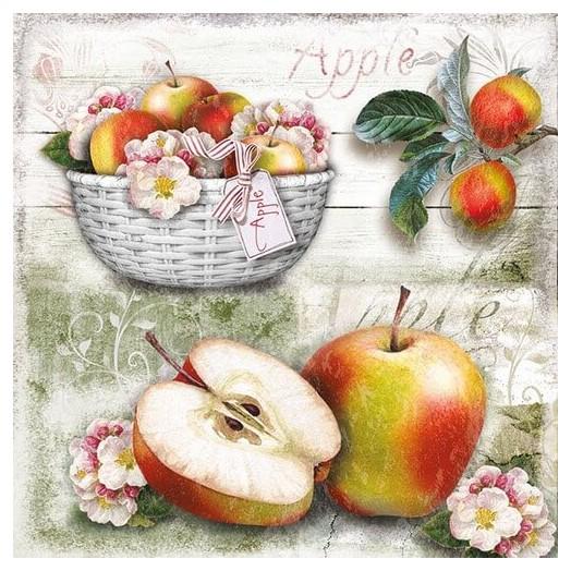 Χαρτοπετσέτα για Decoupage, Apple Basket, 1 τεμ