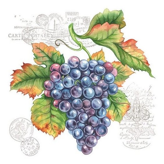 Χαρτοπετσέτα για Decoupage, Grape Vine, 1 τεμ