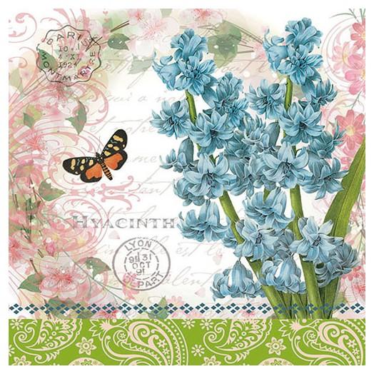Χαρτοπετσέτα για Decoupage, Hyacinth , 1 τεμ