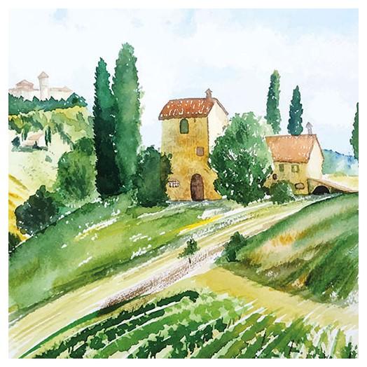 Χαρτοπετσέτα για Decoupage, Tuscany Watercolor 1 τεμ