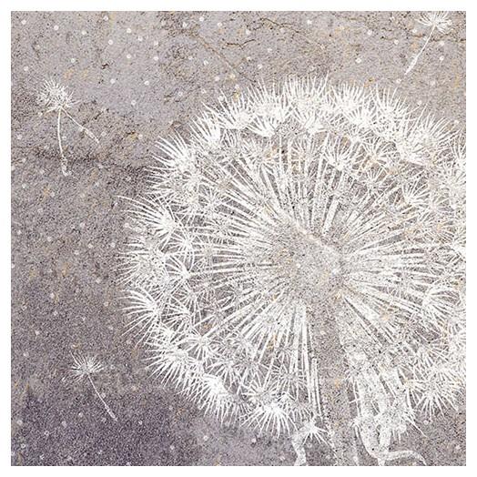 Χαρτοπετσέτα για Decoupage, Dandelion Grey 1 τεμ