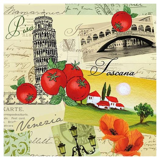 Χαρτοπετσέτα για Decoupage, Collage Italia 1 τεμ