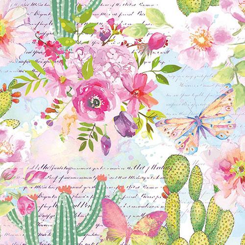 Χαρτοπετσέτα για Decoupage, Roses & Cacti 1 τεμ