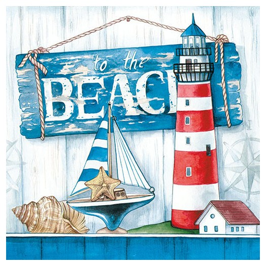 Χαρτοπετσέτα για Decoupage, To The Beach, 1 τεμ