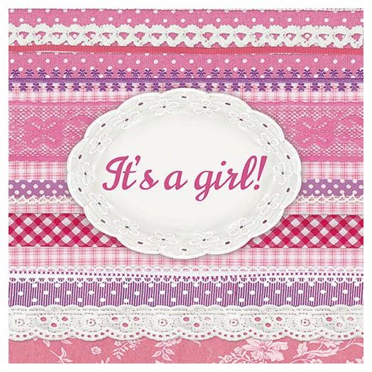 Χαρτοπετσέτα για Decoupage, It's A Girl 1 τεμ