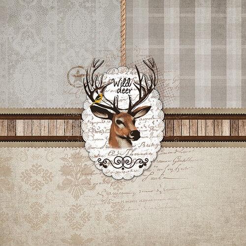Χαρτοπετσέτα για decoupage, Wild Deer,1 τεμ.
