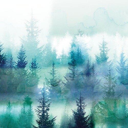 Χαρτοπετσέτα για decoupage, Forest Fog,1 τεμ.