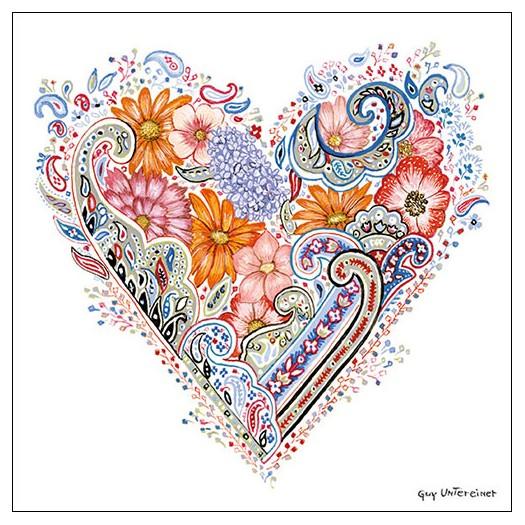 Χαρτοπετσέτα για decoupage, Spring Heart, 1 τεμ.