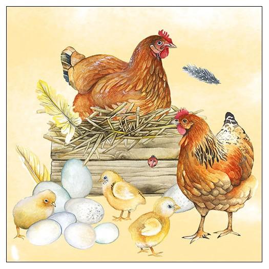 Χαρτοπετσέτα για decoupage, Breeding Chicken, 1 τεμ.