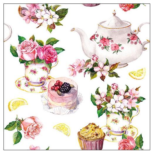 Χαρτοπετσέτα για decoupage, Flower in Teacup, 1 τεμ.