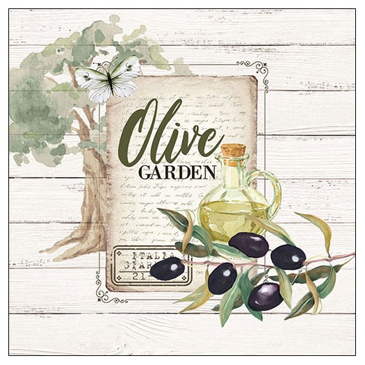 Χαρτοπετσέτα για decoupage, Olive Garden, 1 τεμ.