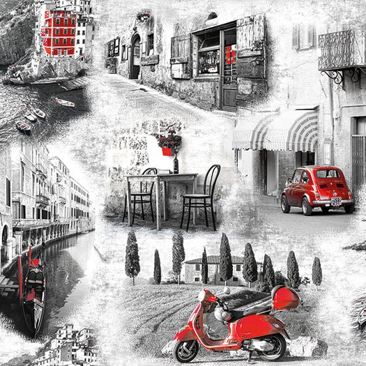 Χαρτοπετσέτα για Decoupage, Italian Streets 1 τεμ.