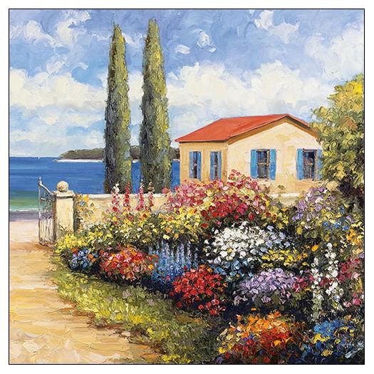 Χαρτοπετσέτα για decoupage, Florals by the Sea, 1 τεμ.