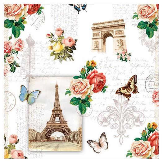 Χαρτοπετσέτα για decoupage, Paris Monuments, 1 τεμ.
