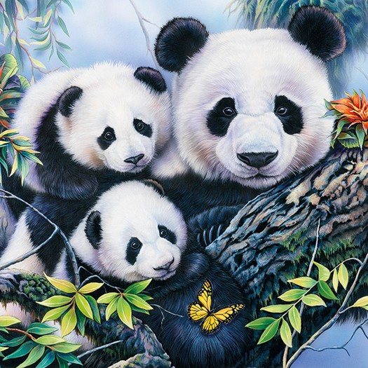 Χαρτοπετσέτα για Decoupage, Panda, 1τεμ.