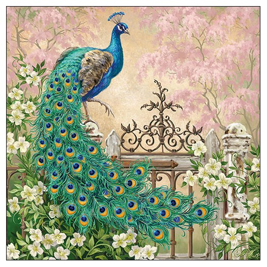Χαρτοπετσέτα για decoupage, Noble Peacock, 1 τεμ.