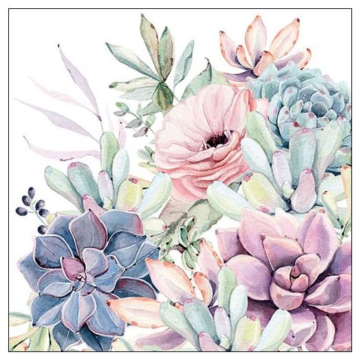 Χαρτοπετσέτα για decoupage, Succulent Love, 1 τεμ.
