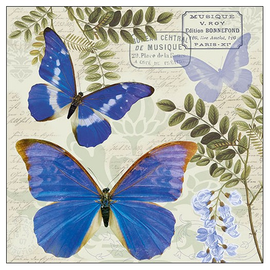 Χαρτοπετσέτα για decoupage, Blue Morpho, 1 τεμ.