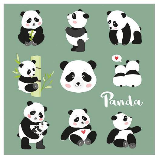 Χαρτοπετσέτα για decoupage, Panda Bears, 1 τεμ.