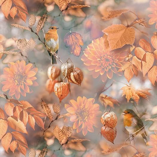Χαρτοπετσέτα για Decoupage, Orange Autumn, 1τεμ.