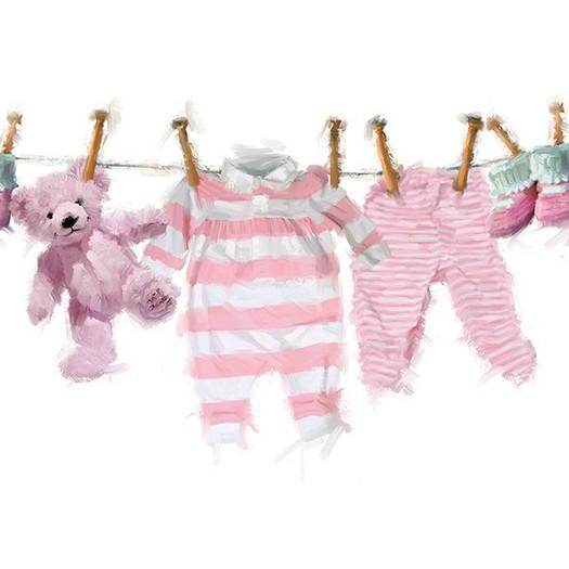 Χαρτοπετσέτα για Decoupage, Baby Girl Clothes 1 τεμ.