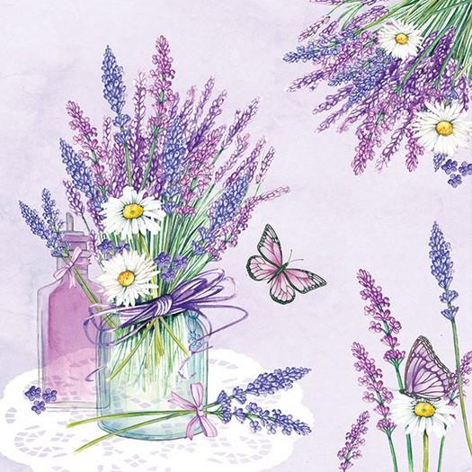 Χαρτοπετσέτα για Decoupage, Lavender Jar Lilac 1 τεμ.