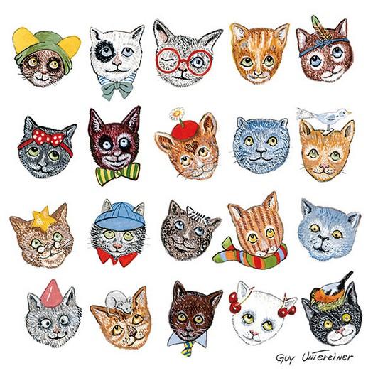 Χαρτοπετσέτα για Decoupage, Funny Cats 1 τεμ.