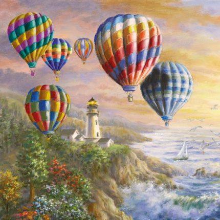 Χαρτοπετσέτα για Decoupage, Hot Air Balloons 1 τεμ.