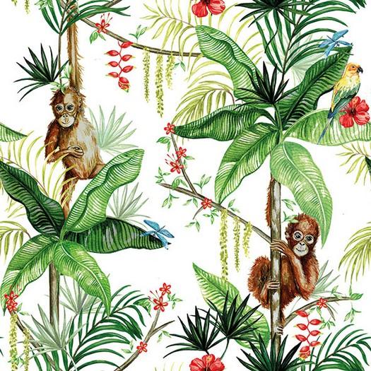 Χαρτοπετσέτα για Decoupage, Orangutan White 1 τεμ.