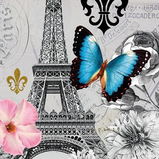 Χαρτοπετσέτα για Decoupage, Ici Paris 1 τεμ.
