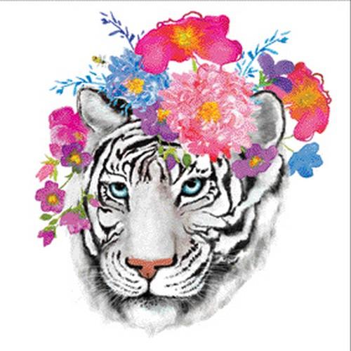 Χαρτοπετσέτα για decoupage, Flora tiger,1 τεμ.