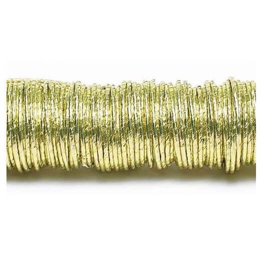 Σύρμα καλυμμένο με χαρτί, σε ξύλινη ράβδο, Gold, 0,80mm/22 m