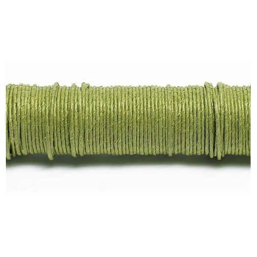 Σύρμα καλυμμένο με χαρτί, σε ξύλινη ράβδο, Green 0,80mm/22 m