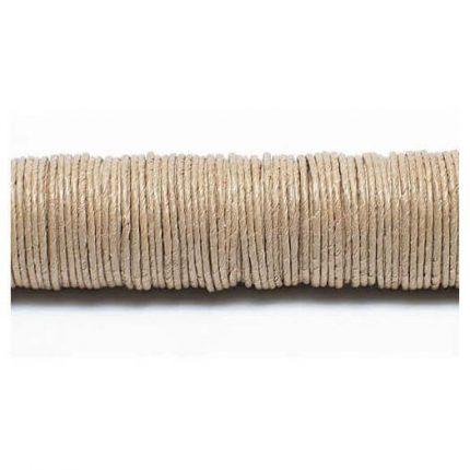 Σύρμα καλυμμένο με χαρτί, natural, σε ξύλινη ράβδο, 0,80mm/22 m