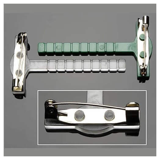Corsage Clips - Παραμάνες με βάση, διαφανείς, 10 τεμ