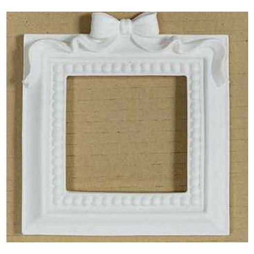 Κορνίζα από ρητίνη τετράγωνη με φιόγκο Dayka, 11,5x11,5cm