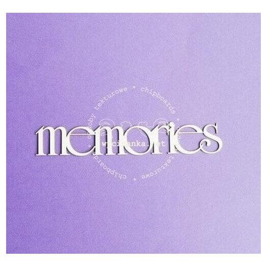 Διακοσμητικά Chipboard «Memories», 2x13cm
