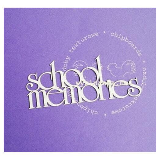 Διακοσμητικά Chipboard «school memories», 6x15 cm