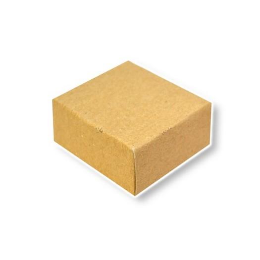 Κουτί χάρτινο κοσμημάτων κραφτ 6x6x2cm