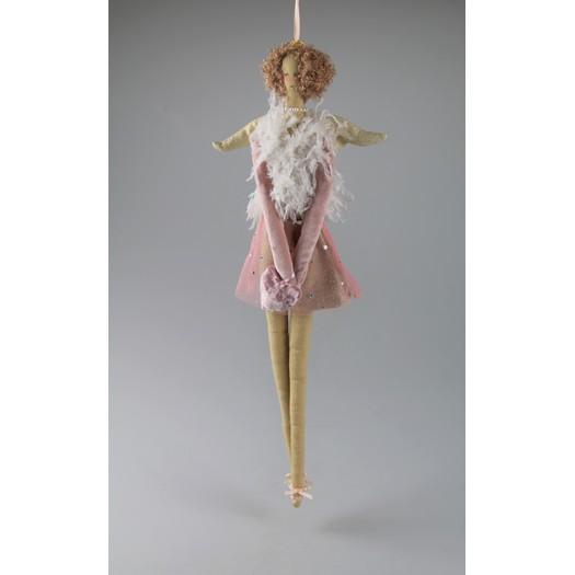 Αγγελάκι κρεμαστό, rose gold, 60cm