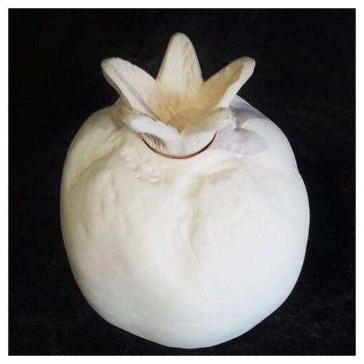 Ρόδι κεραμικό λευκό κλειστό 16 cm