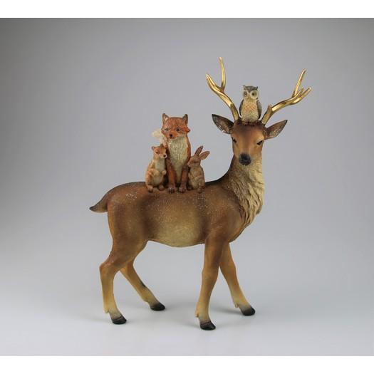 Ελαφάκι όρθιο με ζωάκια, 28x35cm