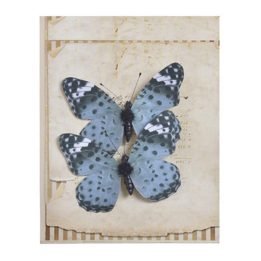 Πεταλούδες με κλιπ, 2 τεμ, white-green