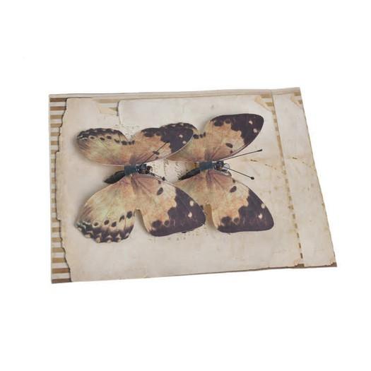 Πεταλούδες με κλιπ, 2 τεμ, orange-brown