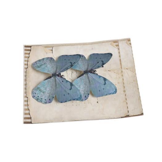 Πεταλούδες με κλιπ, 2 τεμ, dark green