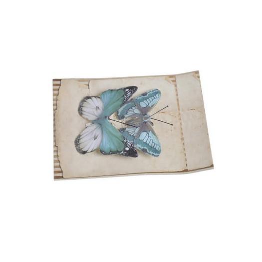 Πεταλούδες με κλιπ, 2 τεμ, light blue