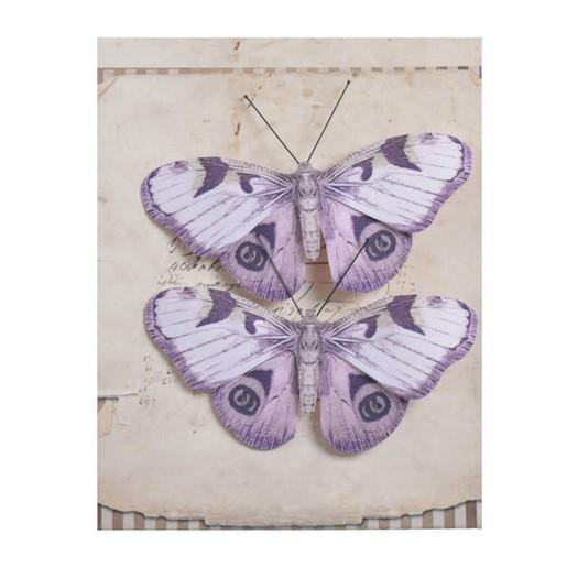 Πεταλούδες με κλιπ, 2 τεμ, violet
