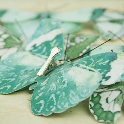 Πεταλούδες με κλιπ, 9 τεμ, light blue