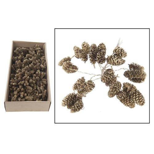 Κουκουναράκια birch pine, gold wash, 3 τεμ.