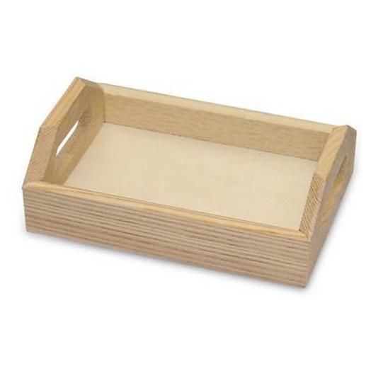 Δίσκος ξύλινος mini 13x9x4,5cm